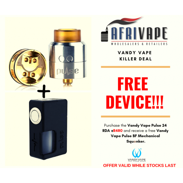 ***SPECIAL OFFER*** VandyVape Pulse 24 RDA + Pulse BF Mechanical Sqounk