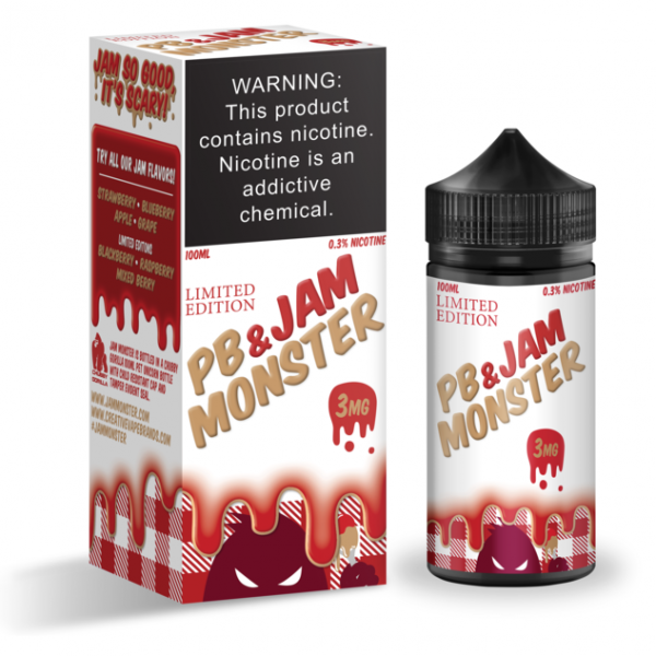 Jam Monster - PB & STRAWBERRY JAM 100ml (Limited Edition)